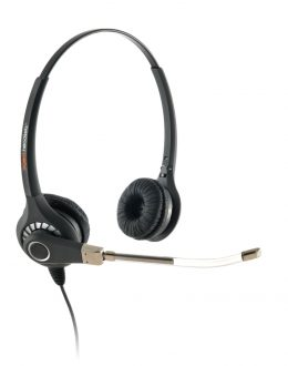 Agent 600 Binaural Voice Tube Headset Top Only